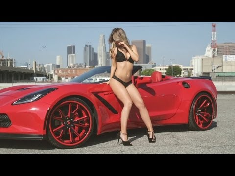 Sexy wife with corvette 8