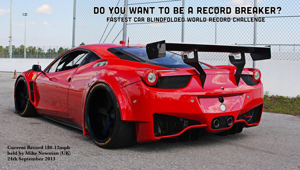 You Could Set a Blindfolded Top Speed Record in a Ferrari 458 ...