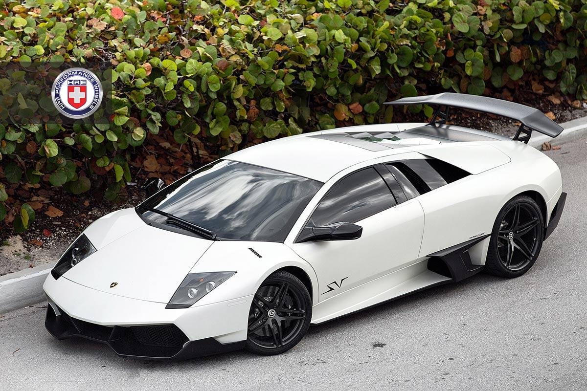 Stunning Matte White Lamborghini Murcielago Sv On Hre