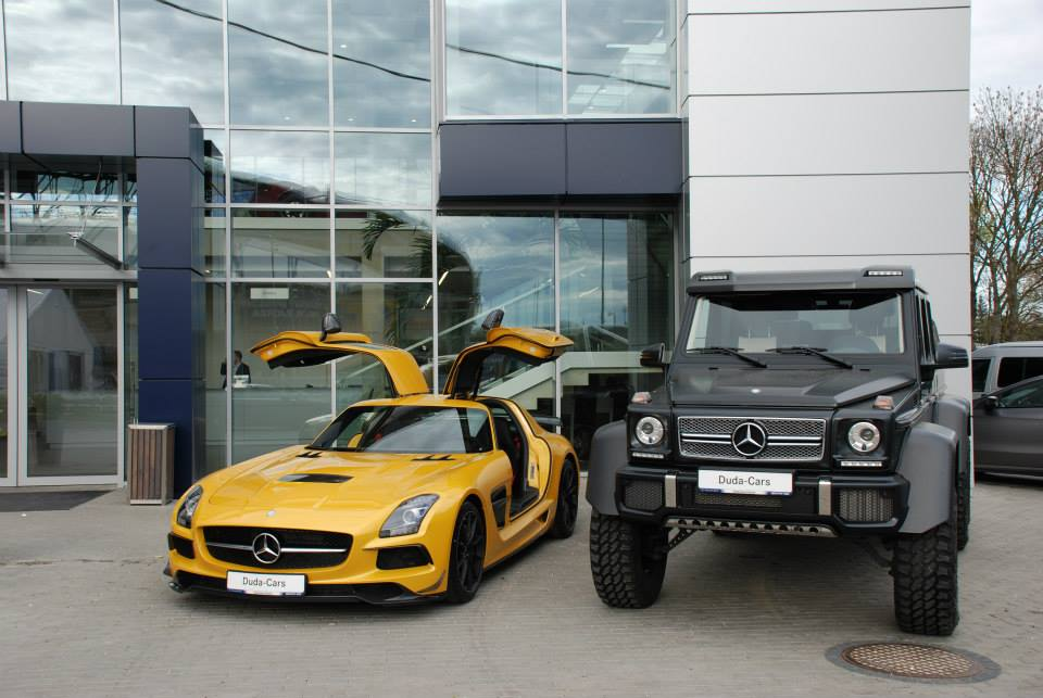 Power duo mercedes benz sls amg black series and g63 amg for Mercedes benz g63 6x6 for sale
