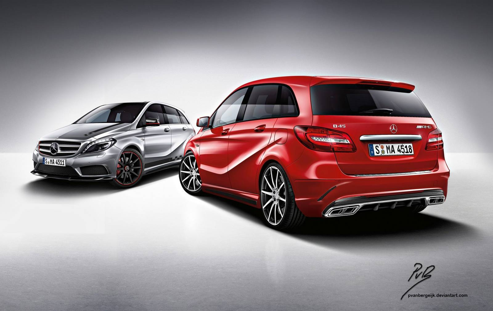 How a mercedes benz b45 amg could look gtspirit for How much is a 2014 mercedes benz