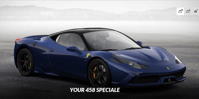 Go Nuts With the Ferrari 458 Speciale Configurator - GTspirit