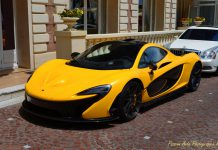 Yellow McLaren P1 from Cannes