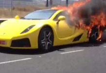Video: Yellow GTA Spano Supercar Burns in Spain