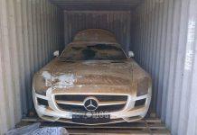 Mercedes-Benz SLS AMG Falls off Boat En Route to Argentina