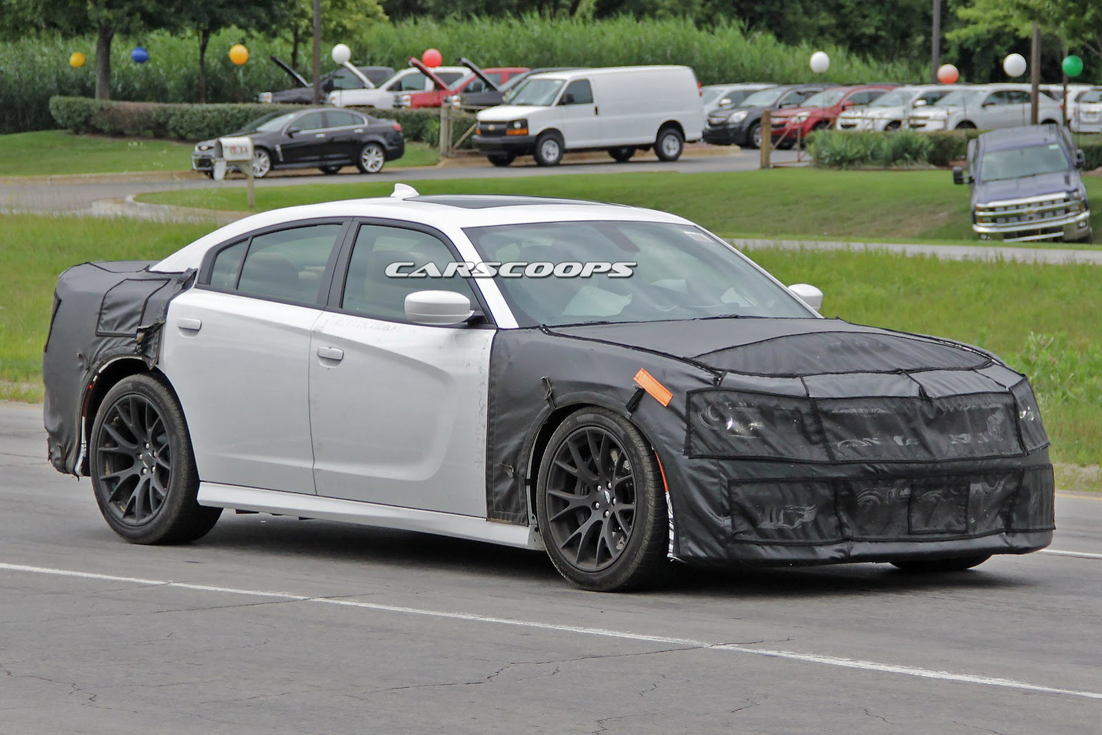 dodge charger srt hellcat spied testing gtspirit. Black Bedroom Furniture Sets. Home Design Ideas