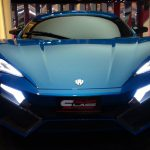 Blue Lykan Hypersport in Dubai