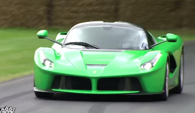 Video: Jay Kay's Green LaFerrari at Goodwood Hillclimb