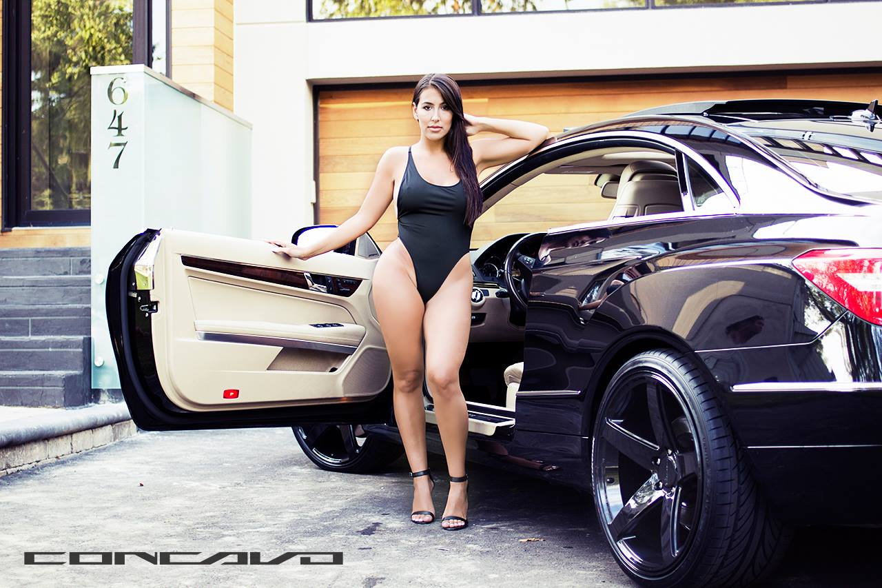 Cars And Girls Mercedes Benz E350 Coupe Meets Sexy Model