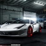 Ferrari 458 Italia Rolling on Gloss Red ADV.1 Wheels