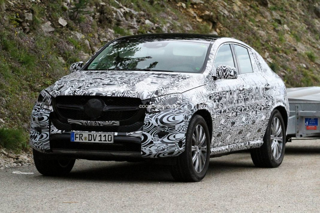 upcoming mercedes benz gle coupe spied testing gtspirit. Black Bedroom Furniture Sets. Home Design Ideas