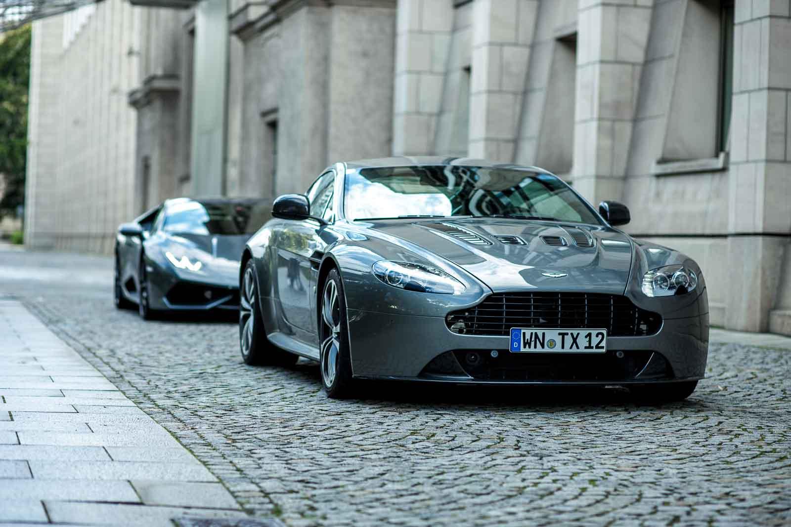 Photo Of The Day: Aston Martin V12 Vantage and Lamborghini Huracan