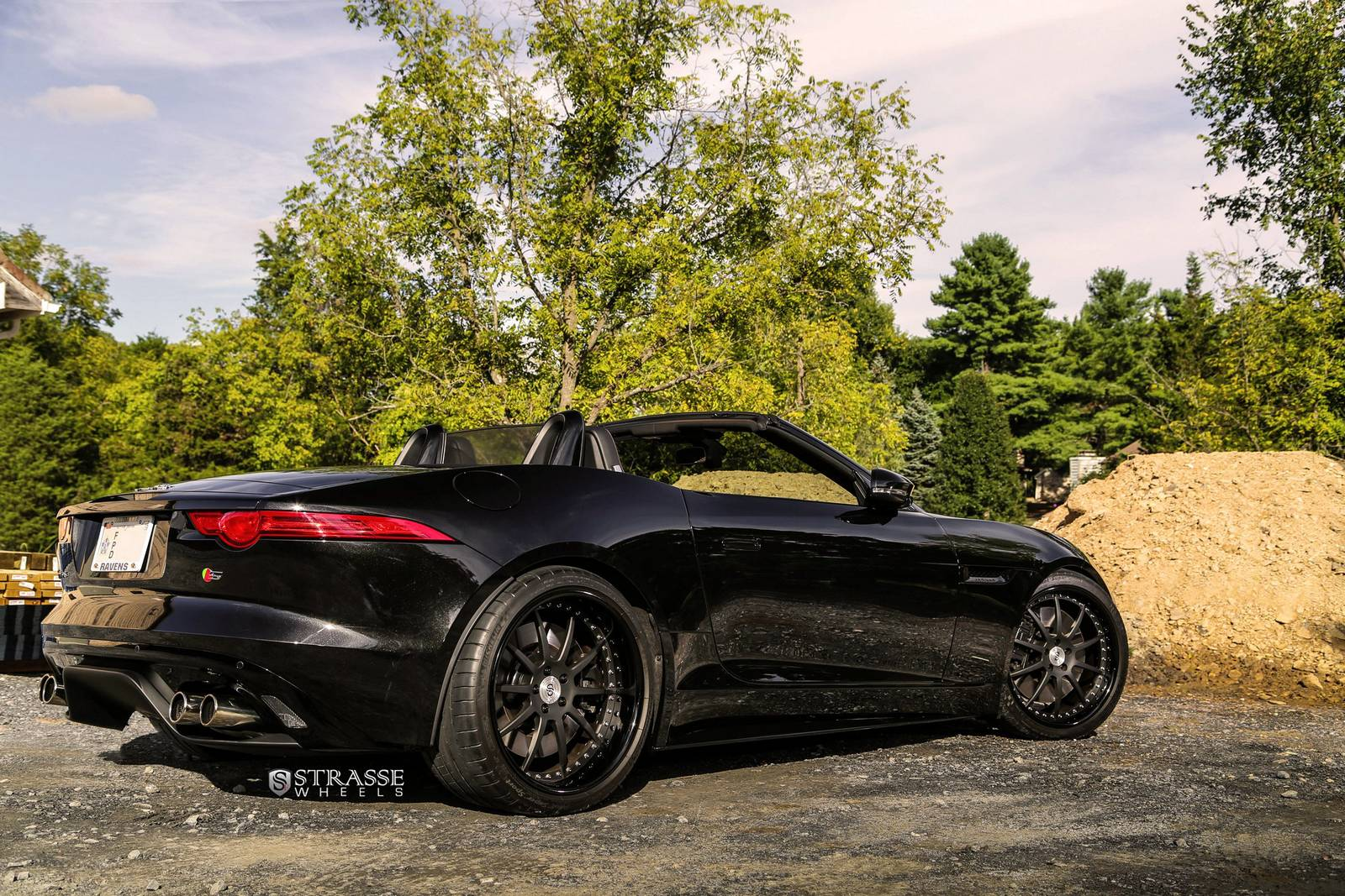 Metallic Black Jaguar F Type V8 S With Strasse Wheels