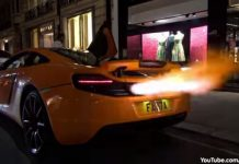 Video: McLaren 12C Melts Bumper While Shooting Flames