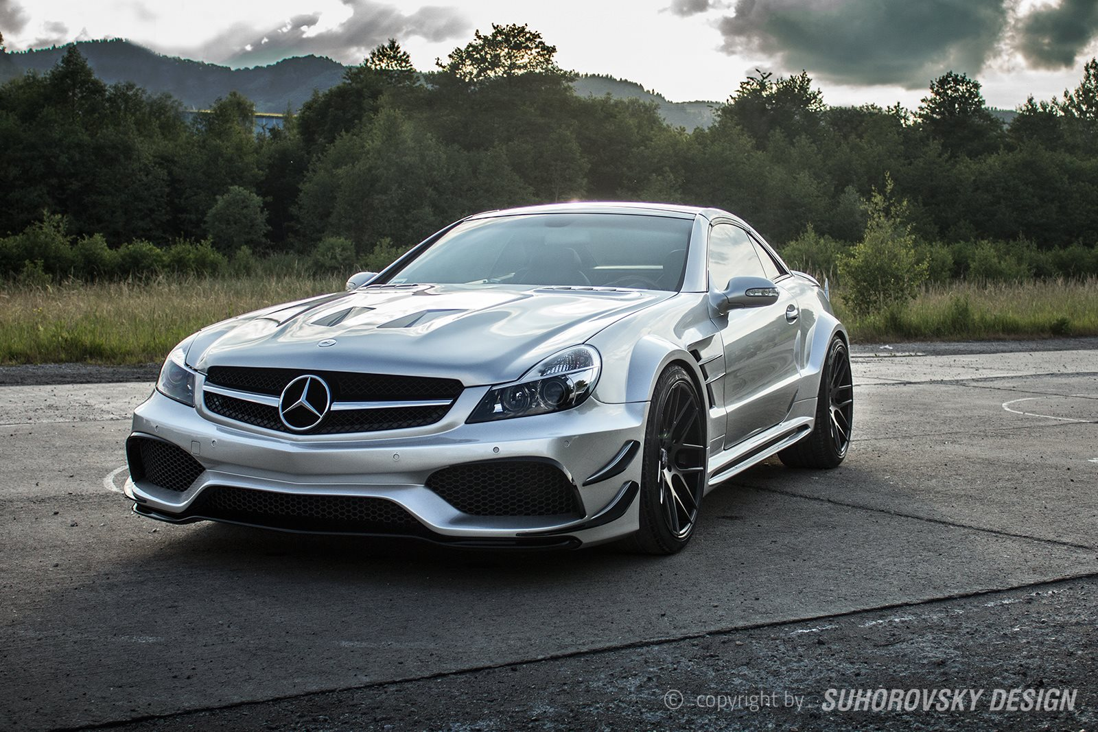 Mercedes benz sl sr66 2 by suhorovsky design gtspirit for Mercedes benz amg kit
