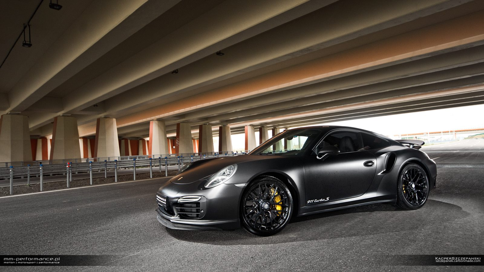 matte black porsche 911 turbo smm-performance - gtspirit