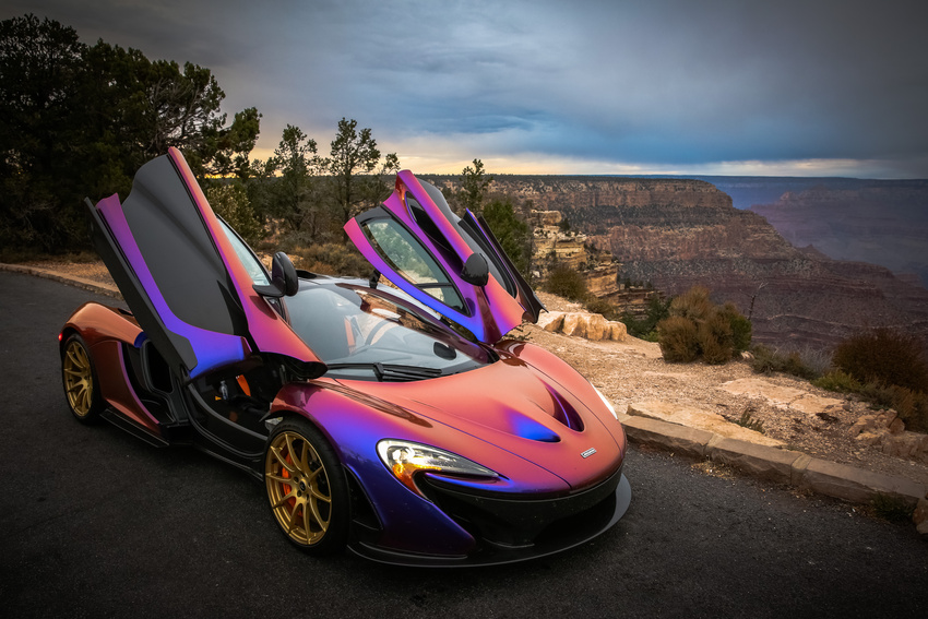 CJ Wilsons McLaren P1 Stuns At The Grand Canyon