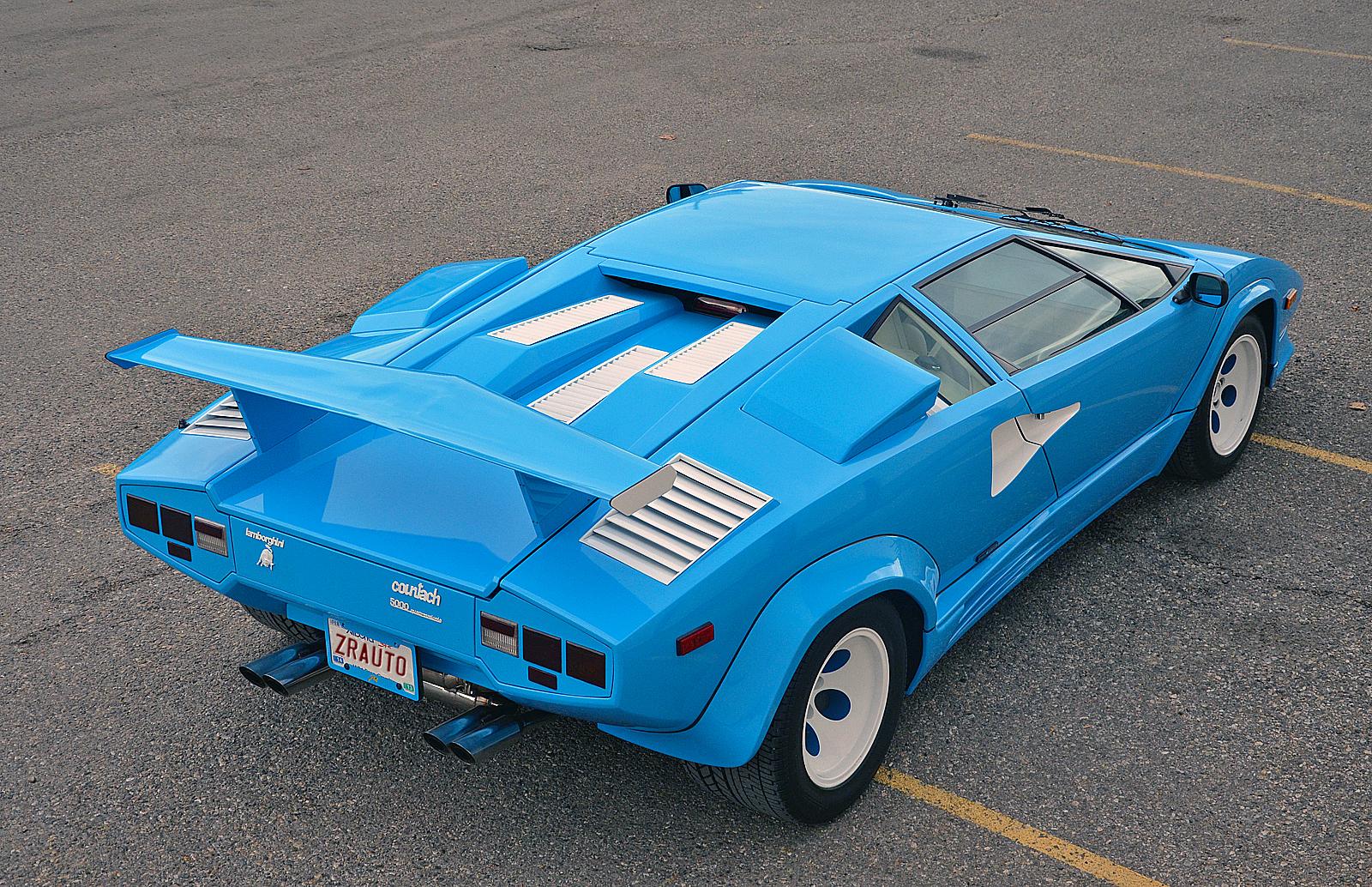 Baby Blue Lamborghini Countach 5000 Qv With Quicksilver Exhaust Gtspirit