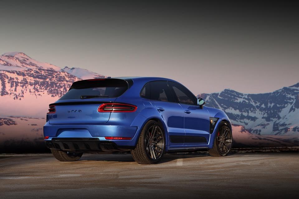 Blue Topcar Porsche Macan Turbo Ursa Gtspirit