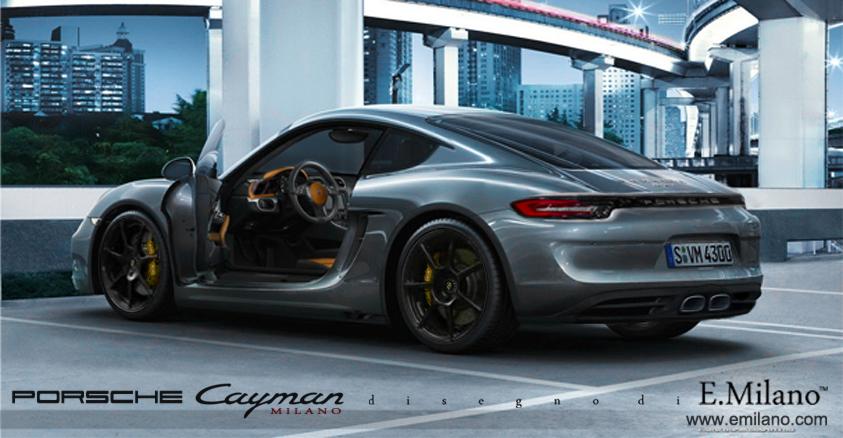 next gen porsche cayman rendered with 918 inspired taillights gtspirit. Black Bedroom Furniture Sets. Home Design Ideas