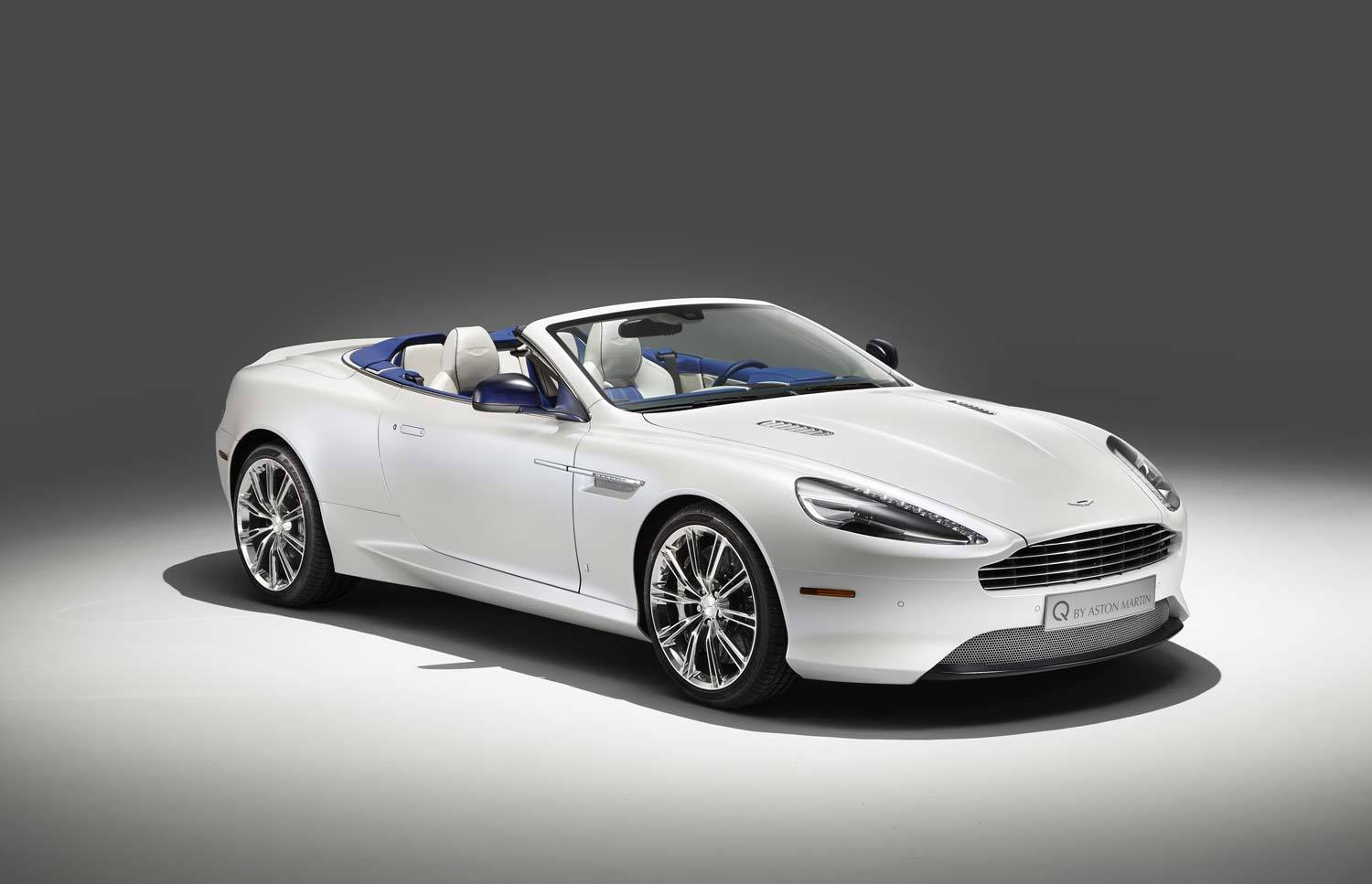 Q By Aston Martin DB Volante In Morning Frost GTspirit - Aston martin db9 convertible