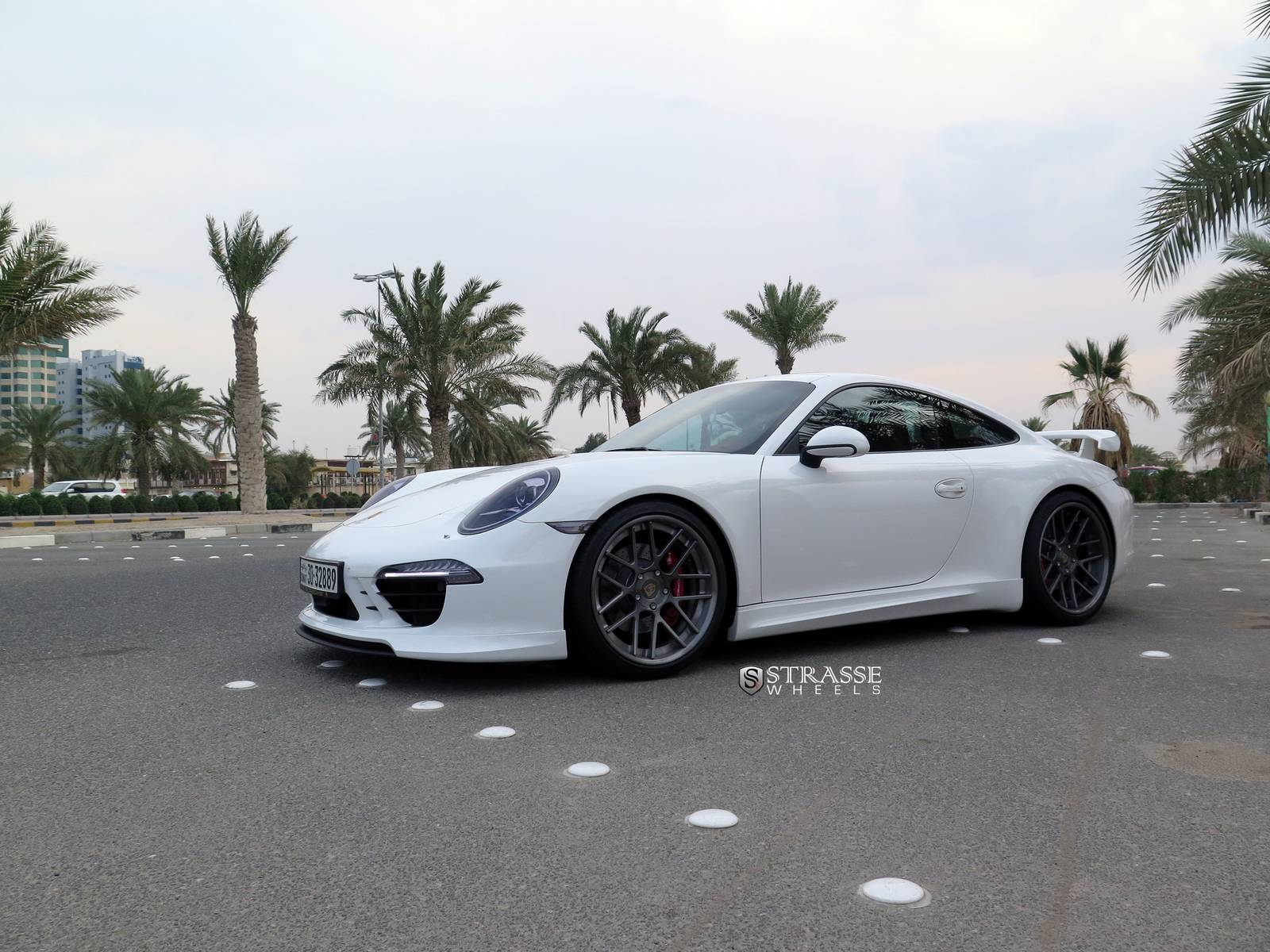white metallic techart 911 carrera s with strasse wheels. Black Bedroom Furniture Sets. Home Design Ideas