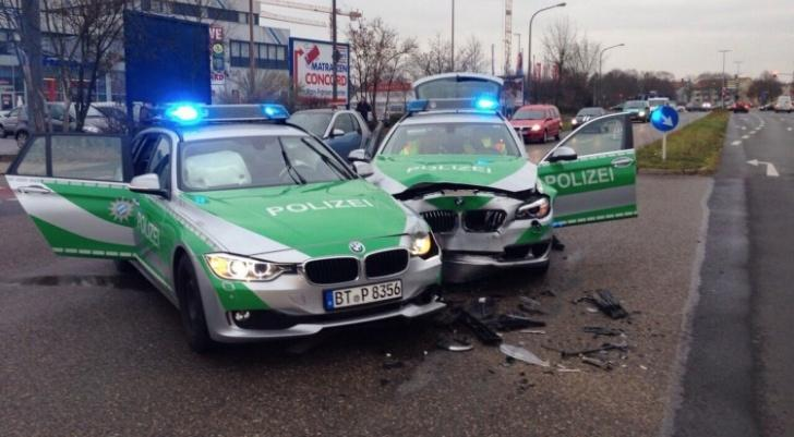 BMW 3 Series And 5 Series Police Cars Crash In Germany