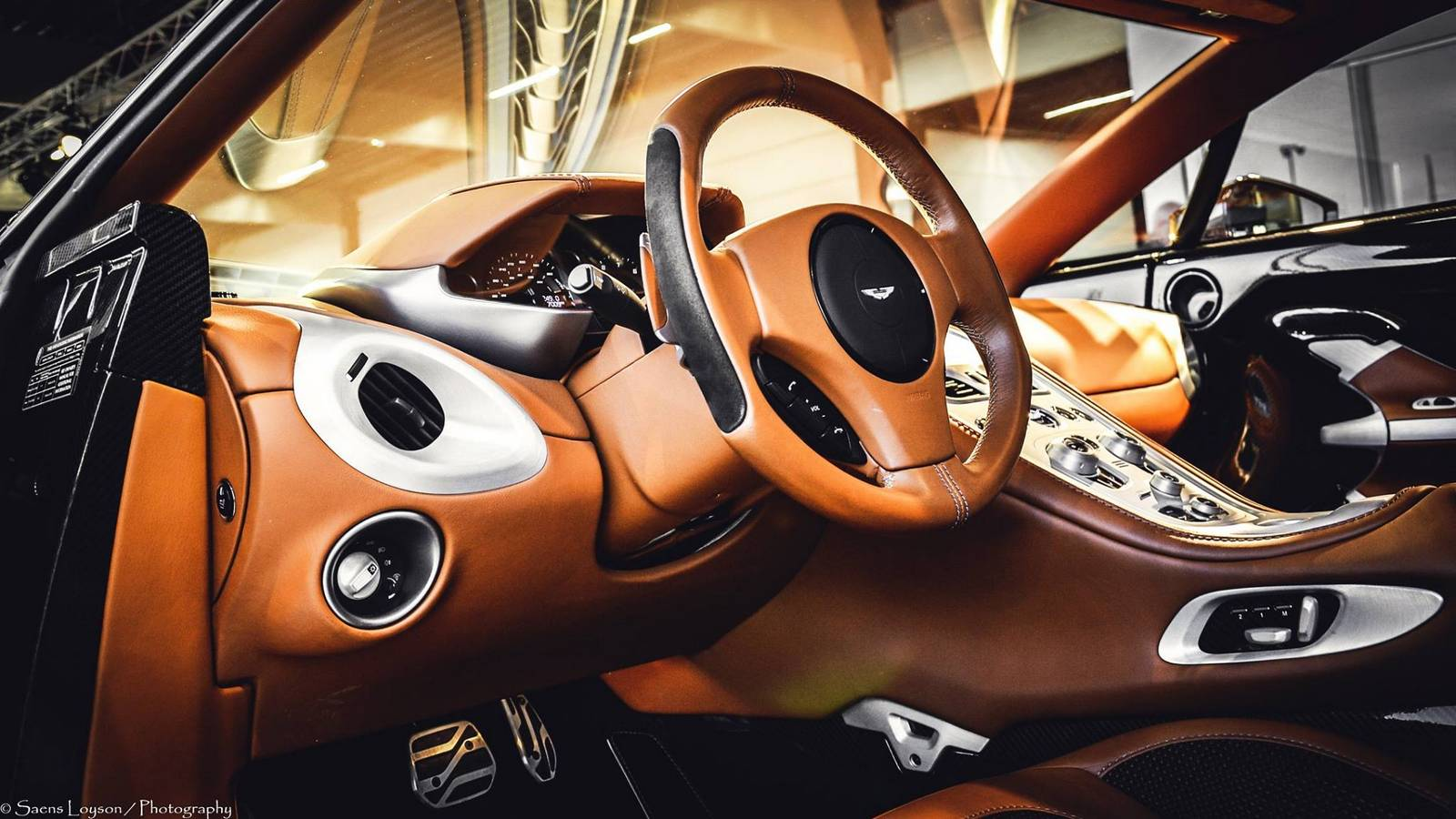 Brown Aston Martin One 77