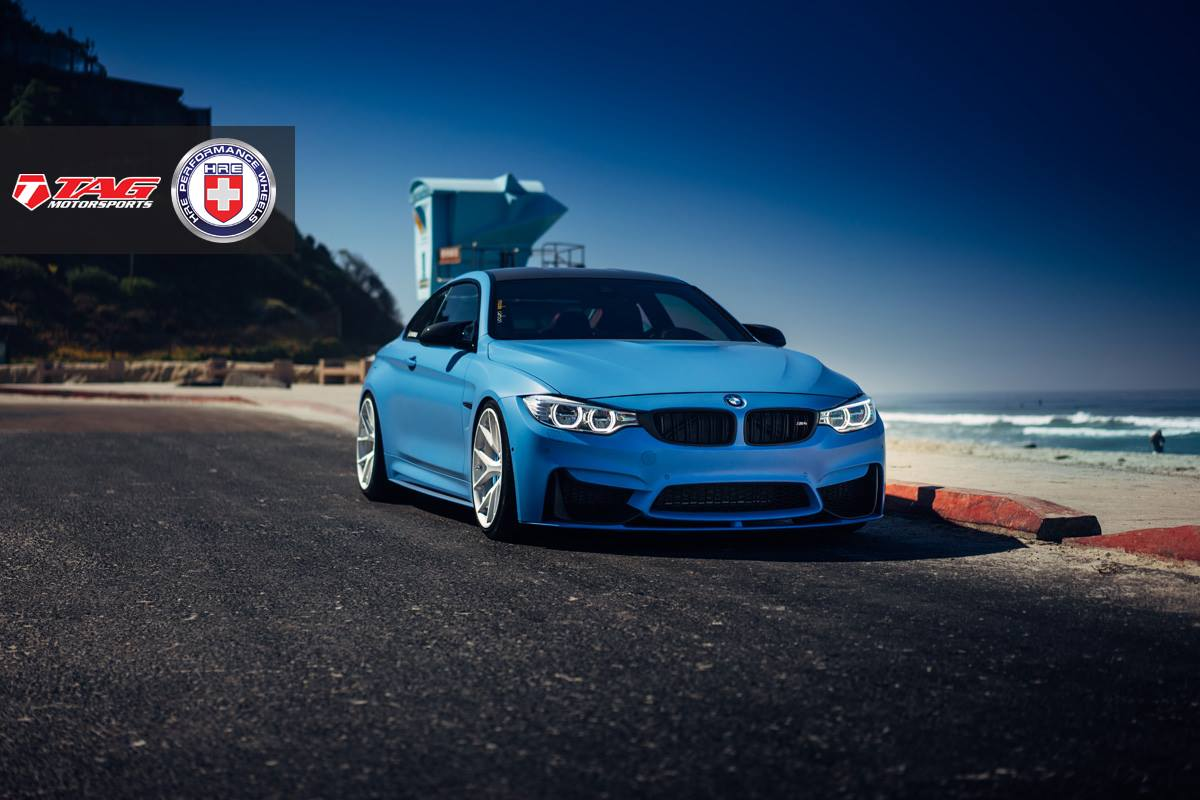 Yas Marina Blue Bmw M4 With Brushed Ice Hre Wheels Gtspirit