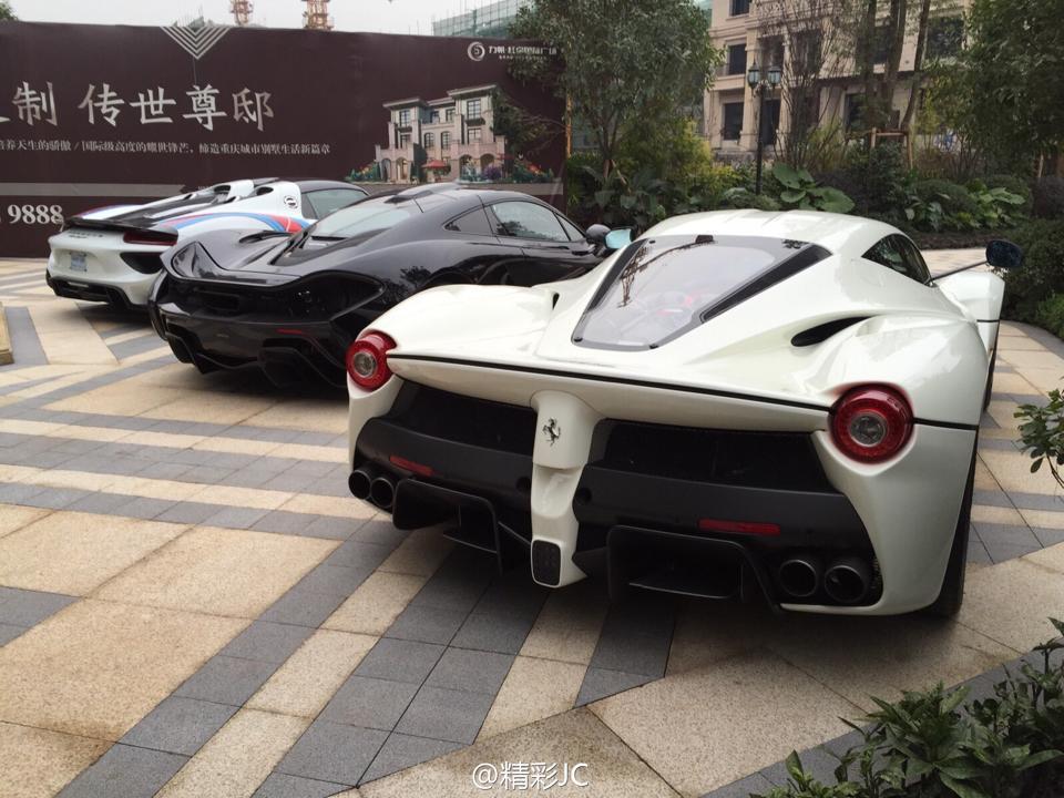 hypercar trio in china mclaren p1 laferrari and porsche 918 spyder gtspirit. Black Bedroom Furniture Sets. Home Design Ideas