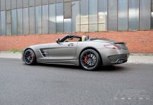 Monza Grey Matt Mercedes-Benz SLS AMG Roadster