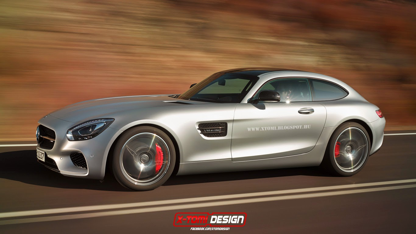 mercedes amg gt rendered as a shooting brake gtspirit. Black Bedroom Furniture Sets. Home Design Ideas