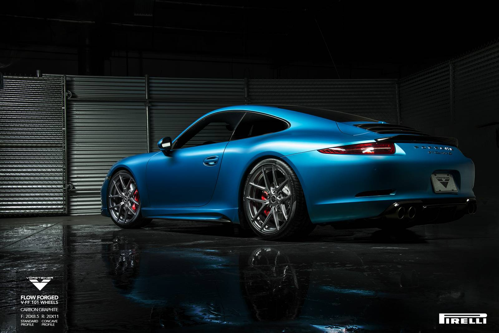 Porsche 991 Carrera S Lowered On V Ff 101 Vorsteiner