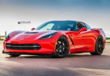 Torch Red Corvette C7 Stingray with SM5R Strasse Wheels
