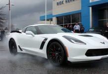 2015 Chevrolet Corvette Z06 Burnout