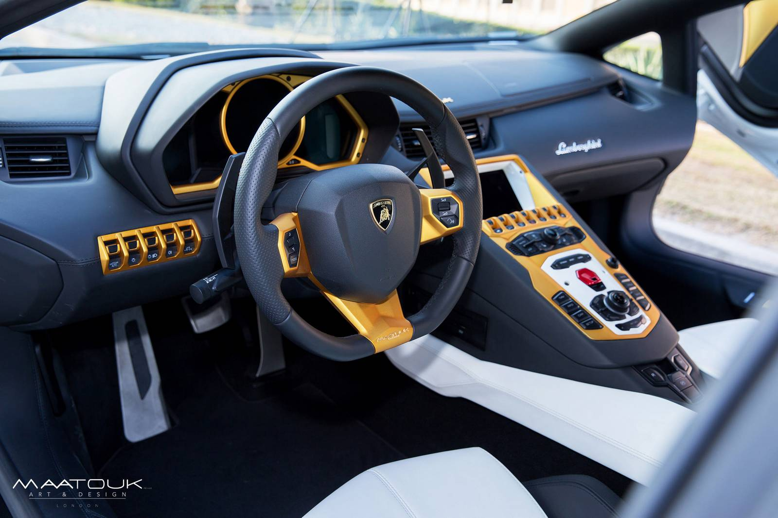 Lamborghini Aventador Golden Edition by Maatouk Design - GTspirit