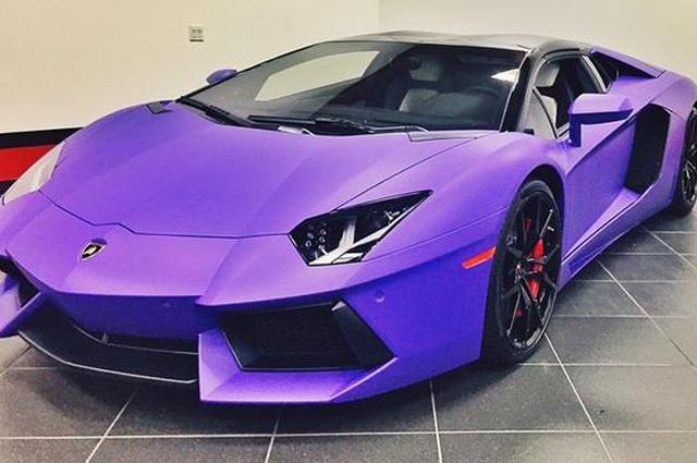Tygas Lamborghini Aventador Goes Matte Purple