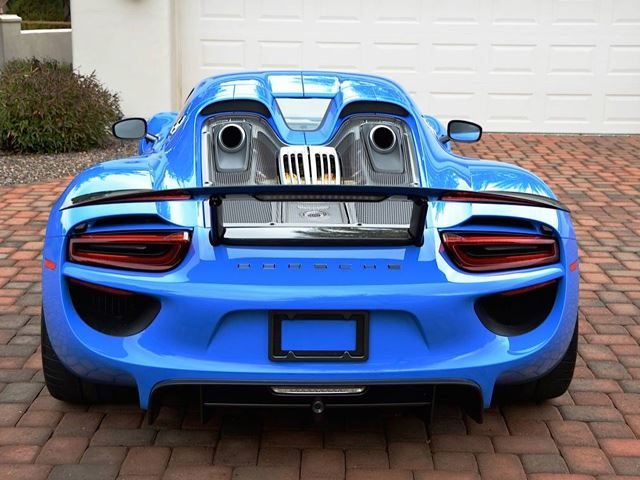 one of a kind porsche 918 spyder voodoo blue for sale on ebay. Black Bedroom Furniture Sets. Home Design Ideas