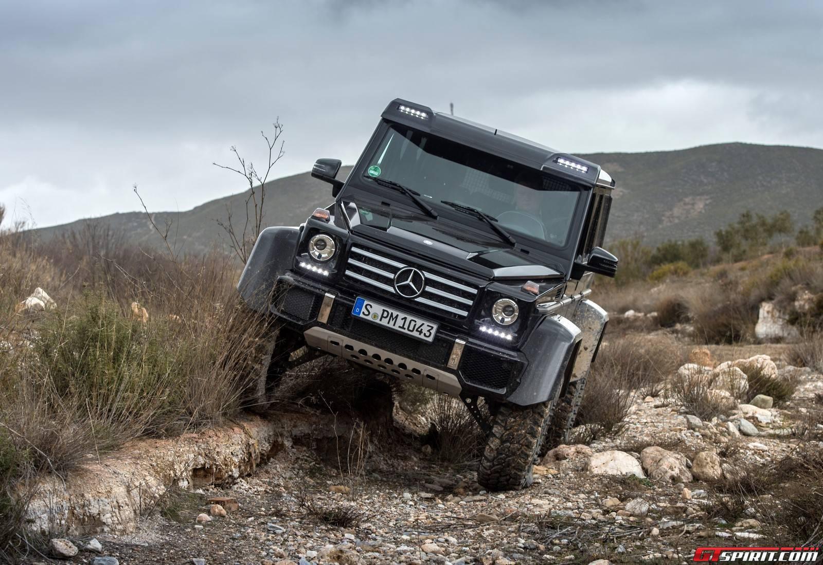 Exclusive mercedes benz g500 4x4 review gtspirit for Mercedes benz portal axles