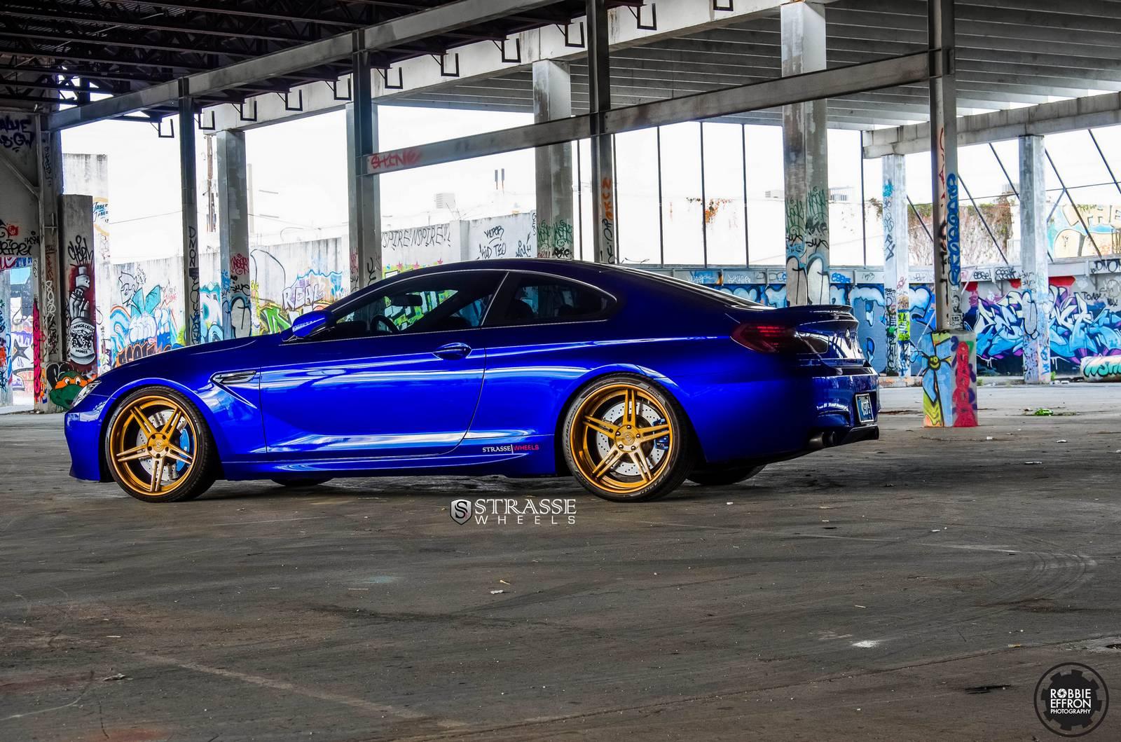 Superior Auto Sales >> San Marino Blue BMW M6 with Bronze Strasse Wheels - GTspirit