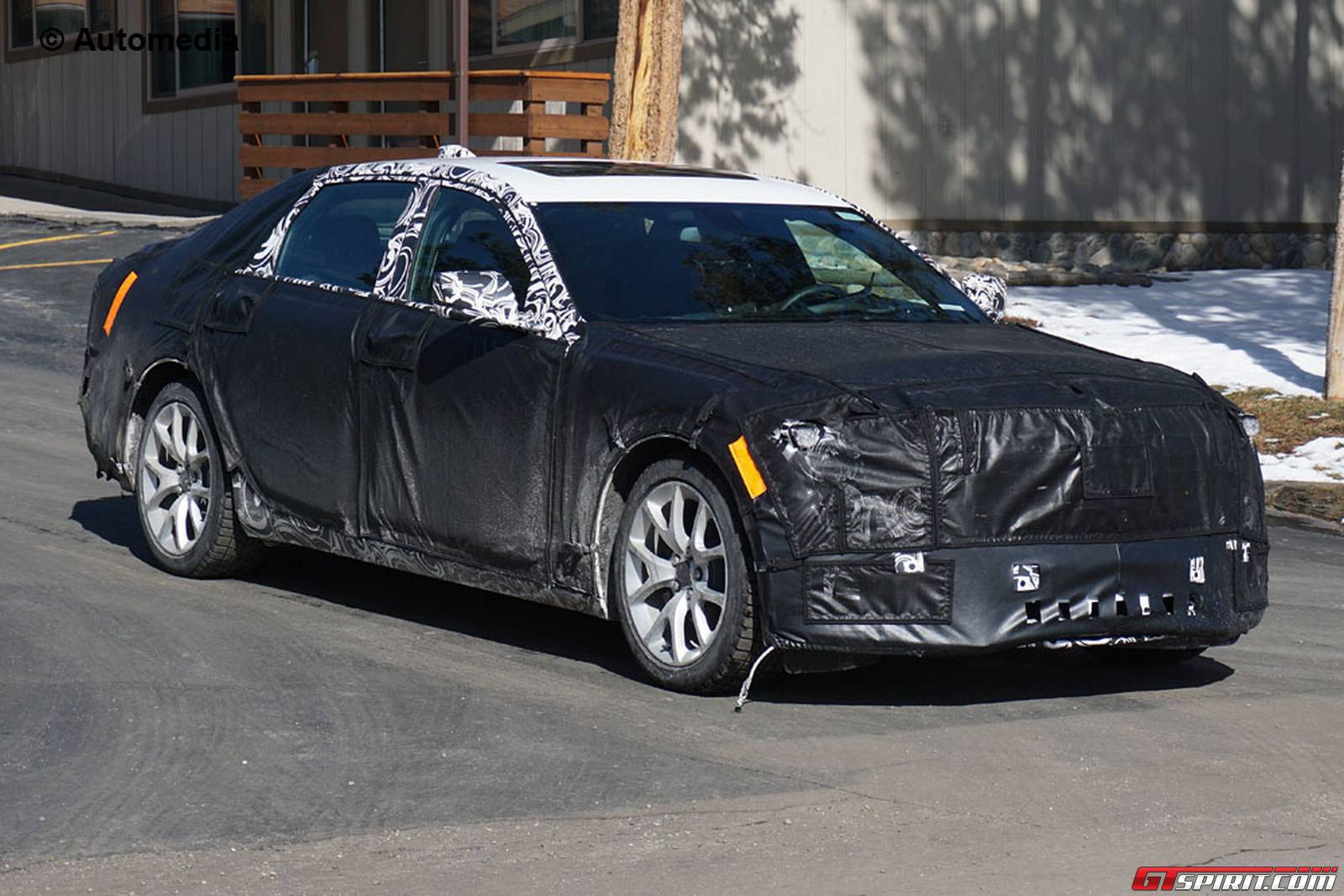 2016 cadillac ct6 spy shots emerge ahead of global debut gtspirit. Black Bedroom Furniture Sets. Home Design Ideas