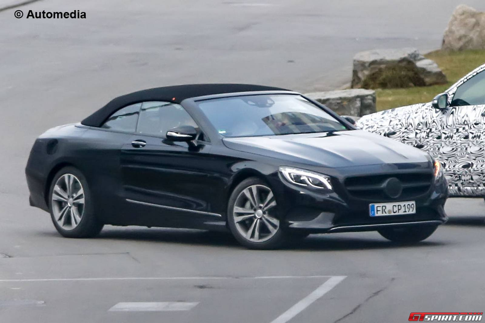 mercedes benz s class convertible spy shots without camo gtspirit. Black Bedroom Furniture Sets. Home Design Ideas