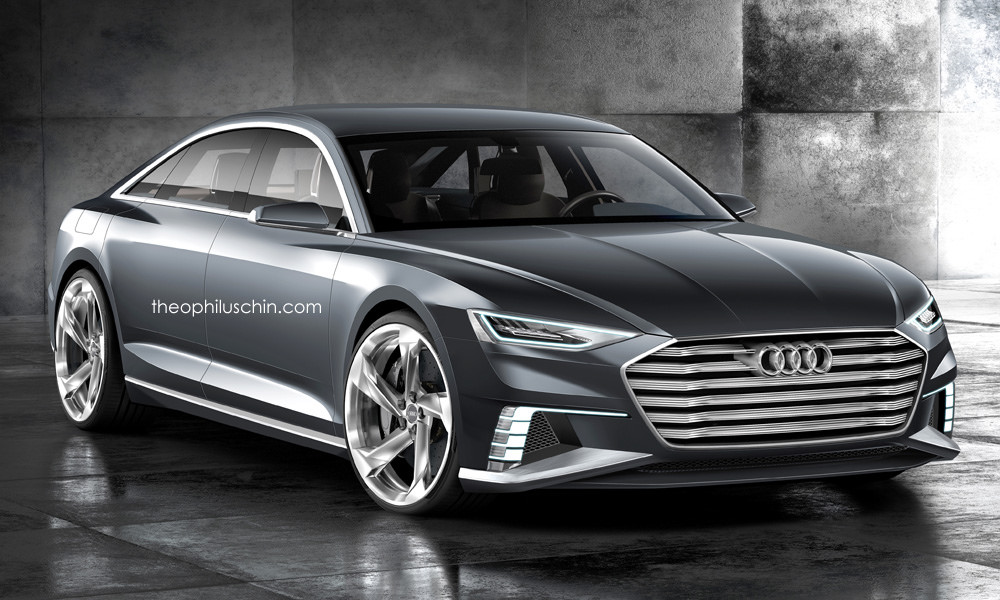 audi prologue rendered as road going audi a9 sportback gtspirit. Black Bedroom Furniture Sets. Home Design Ideas