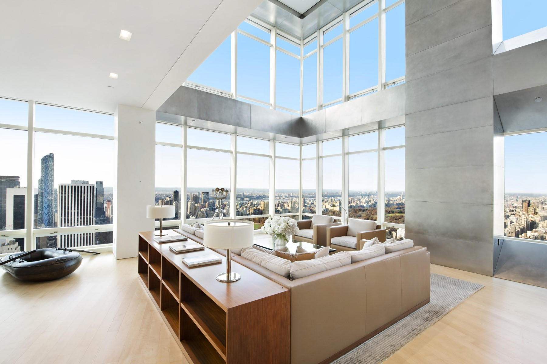 Phenomenal 82 million penthouse apartment in new york for New york city apartments for sale