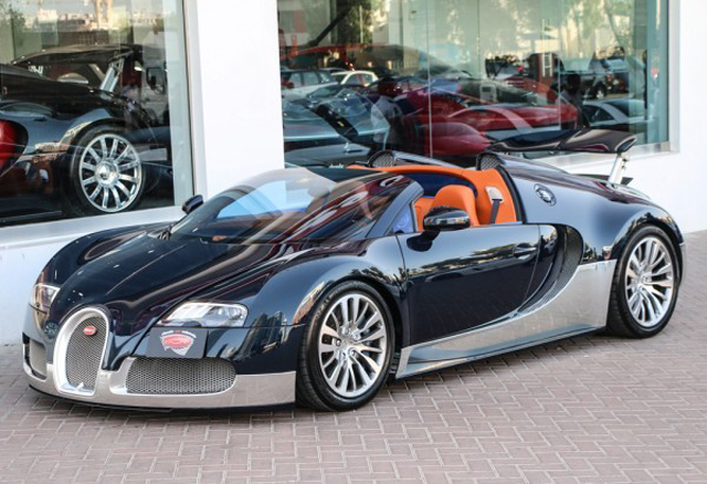 blue and silver bugatti veyron grand sport for sale gtspirit. Black Bedroom Furniture Sets. Home Design Ideas
