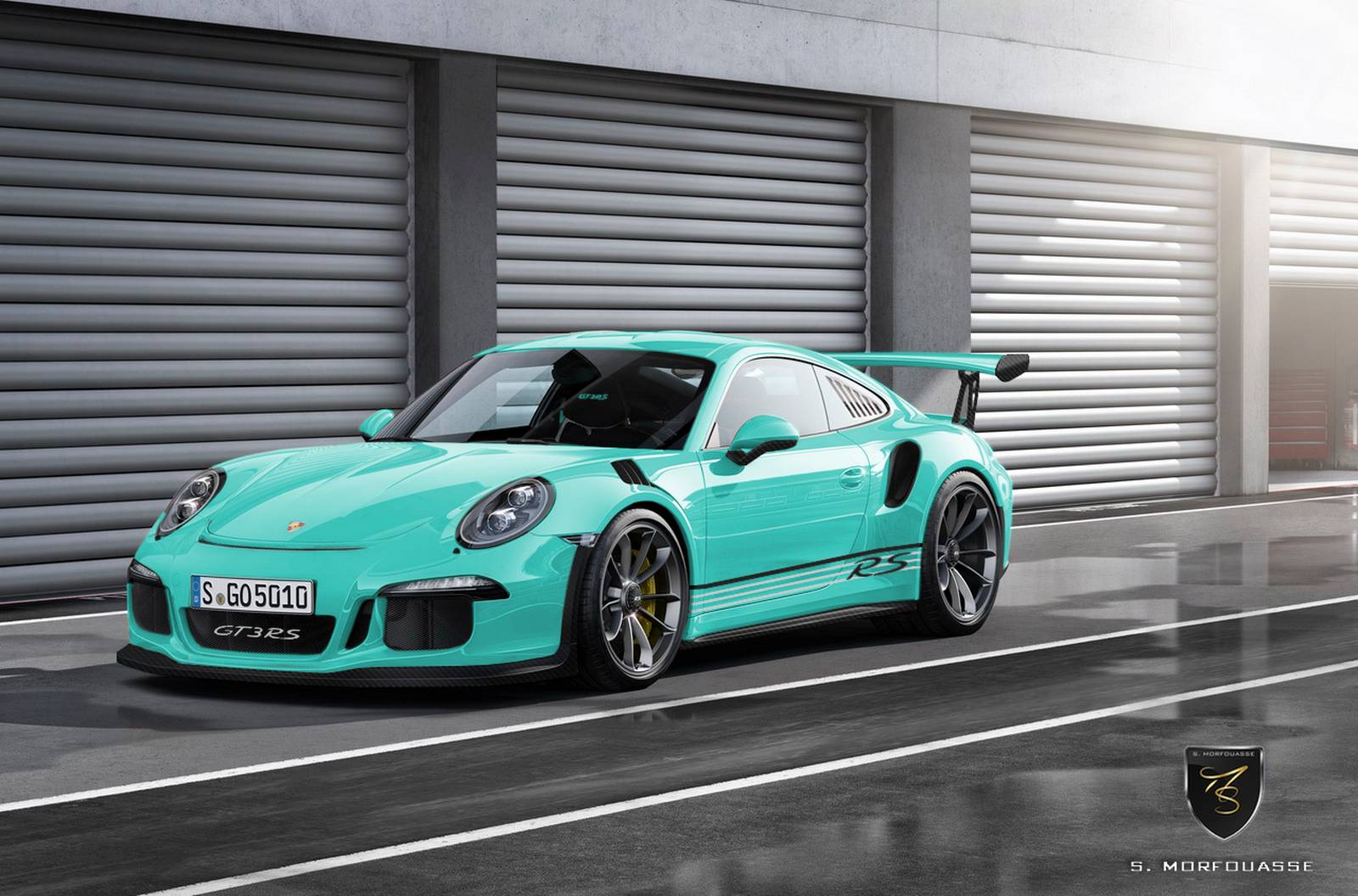 2016 porsche 911 gt3 rs imagined in multiple colors gtspirit. Black Bedroom Furniture Sets. Home Design Ideas