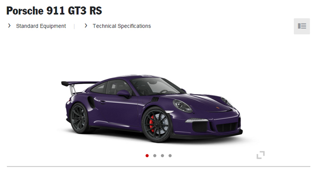 2016 porsche 911 gt3 rs online configurator launched gtspirit. Black Bedroom Furniture Sets. Home Design Ideas