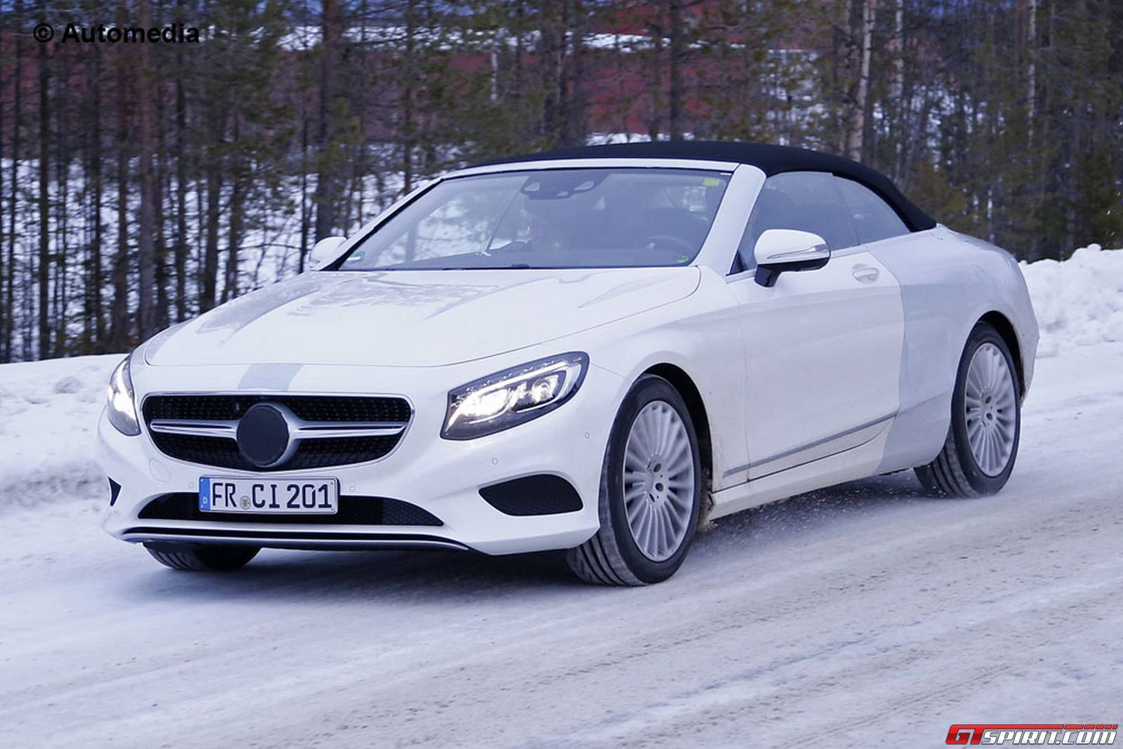 Mercedes benz s class cabriolet revealed in new spy shots for Mercedes benz s class convertible