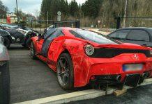 Ferrari 458 Speciale Wrecked in France