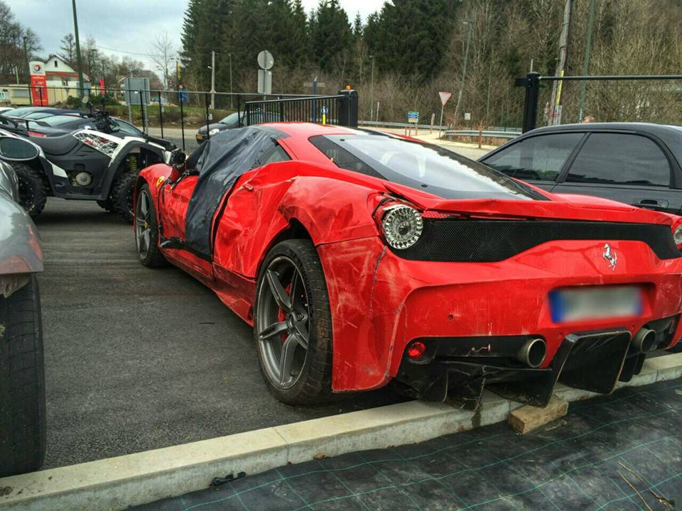 Ferrari 458 Speciale Wrecked in France